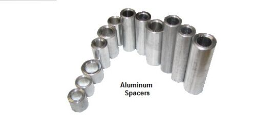 "Aluminum Spacer, NO. 8 Screw, 38"" OD x .166"" ID x 34"" Length, 10 pcs"