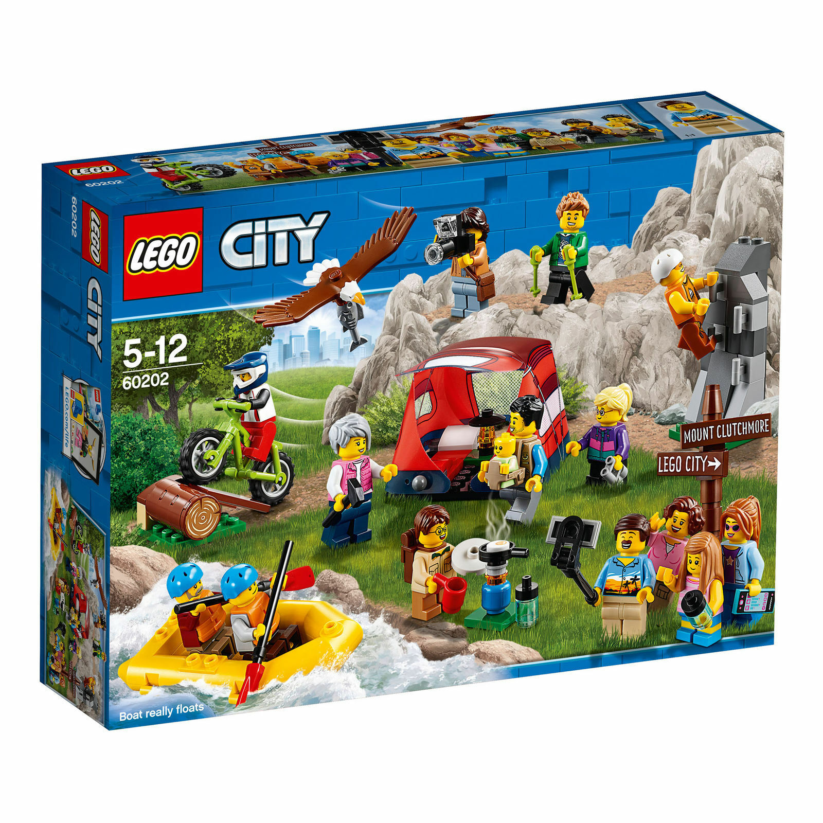 LEGO® CITY 60202 People Pack - Outdoor Adventures - NEW SEALED SET - YEAR 2018