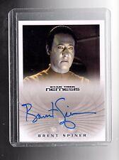 Star Trek Nemesis NA6  B.Spiner as B-4 auto card
