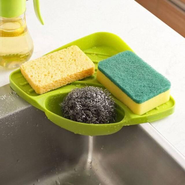 Kitchen Bathroom Sink Corner Storage Rack Sponge Soap Holder tools\\