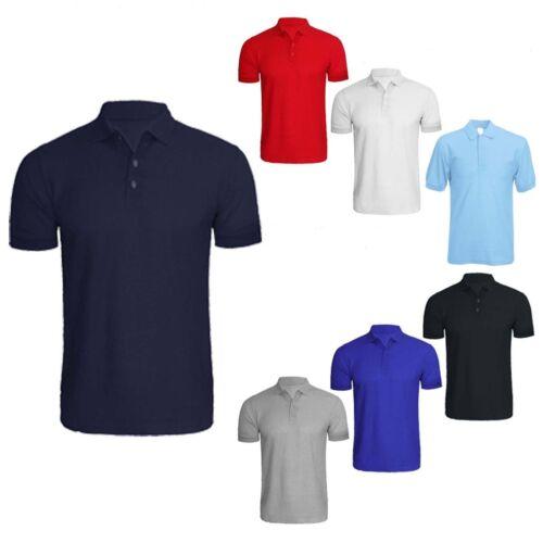 Men/'s Plain Polo Summer Short Sleeve T Shirt