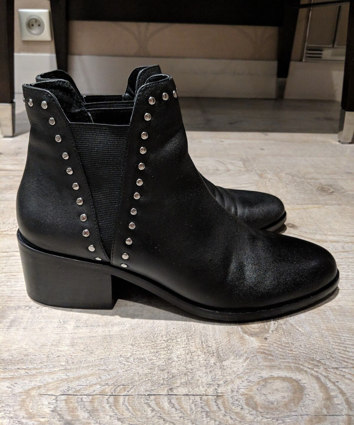 ONLY WORN FOR 5 DAYS - Steve madden studded boots PAID  + tax