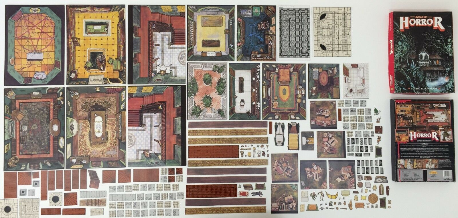 HALL OF HORRORS GOTHIC FLOOR PLANS RAVENLOFT D&D WFRP GAMES WORKSHOP (1986)