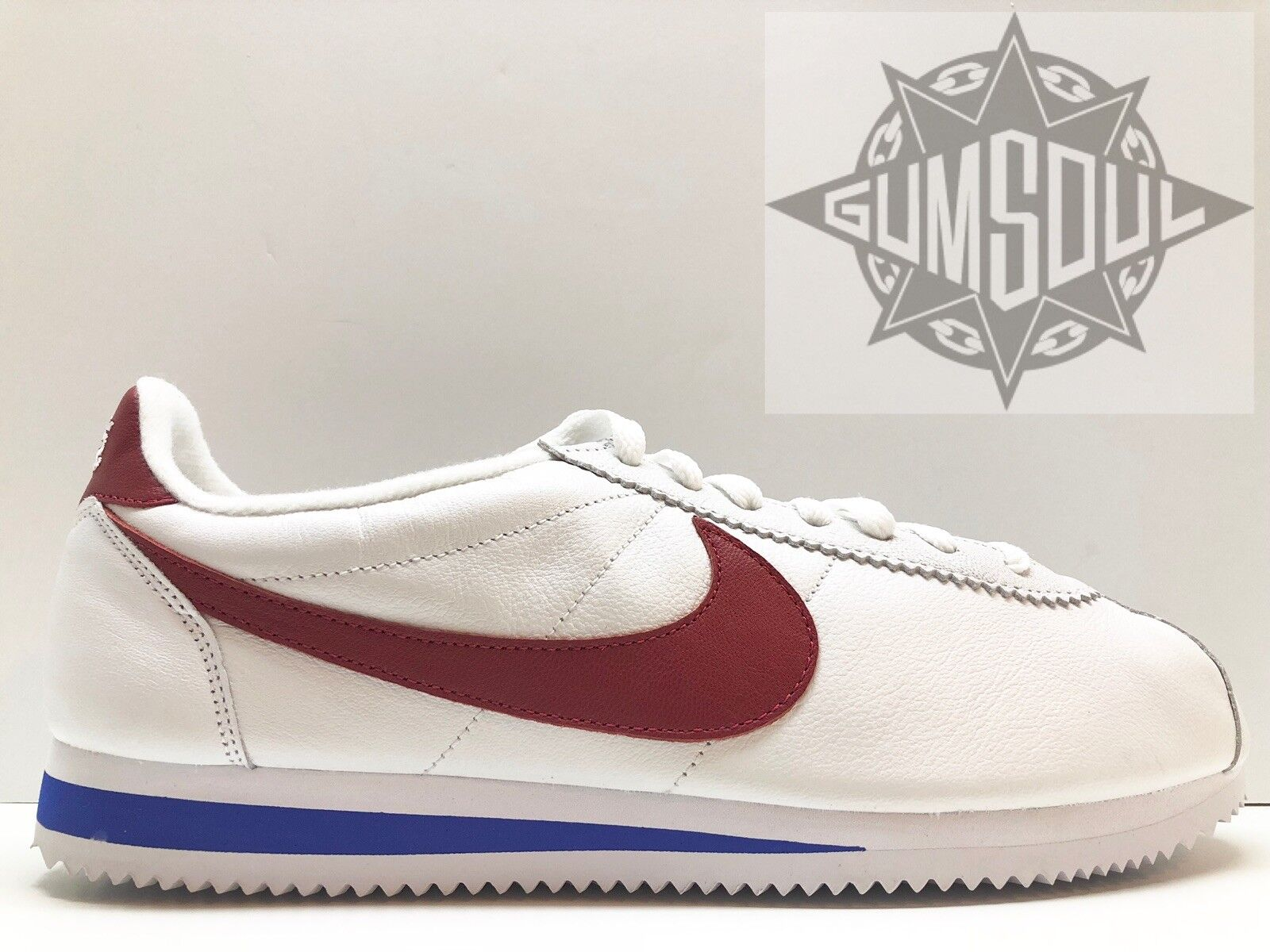 NIKE CLASSIC CORTEZ LEATHER QS NAI KE FORREST GUMP RED WHITE 885724 164 Price reduction Seasonal clearance sale