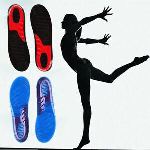 Mujer-Hombre-Gel-Silicona-Plantilla-Zapatos-Soporte-de-Arco-Ortotico-Calzado