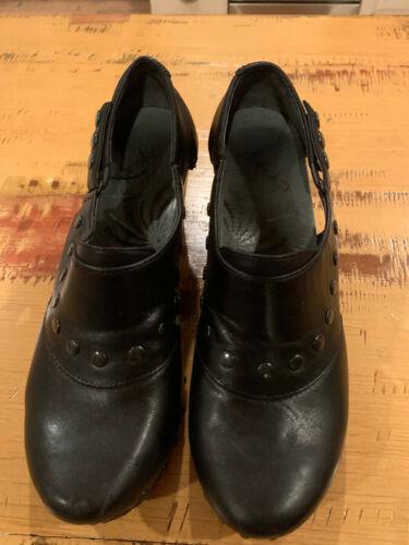 DANSKO BLACK DRESS CLOGS SIZE 38