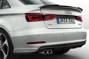 Details Sur Genuine Audi A3 Berline Cabriolet Noir Mat Arriere Inferieur Pare Chocs Diffuseur Spoiler Afficher Le Titre D Origine