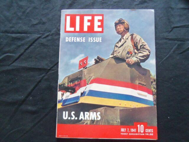 1941 JULY 7 LIFE MAGAZINE - GENERAL GEORGE PATTON - L 242