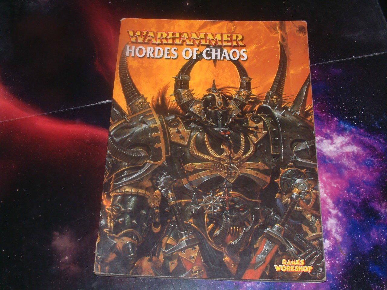 Warhammer Choas - Hordes of Chaos Armie book. oop. oldhammer WFB
