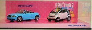 Legally Blonde 2: Modèles Audi Tt Roadster et Smart Cabriolet Minichamps 4012138052956