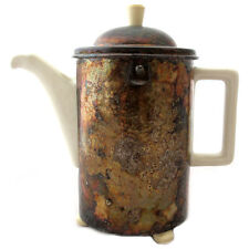 HUTSCHENREUTHER COFFEE TEAPOT WMF HAMMERED SILVERPLATED COVER ART DECO GERMANY