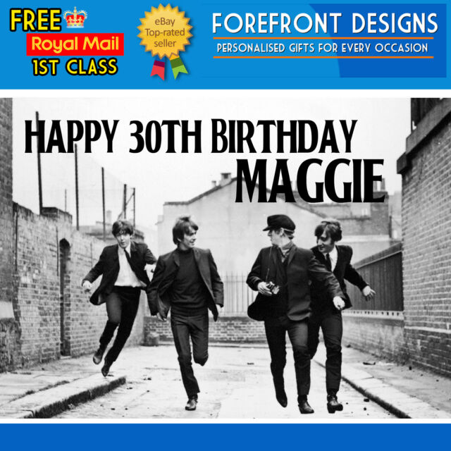 Personalised The Beatles Birthday Greeting Card A5 Ebay