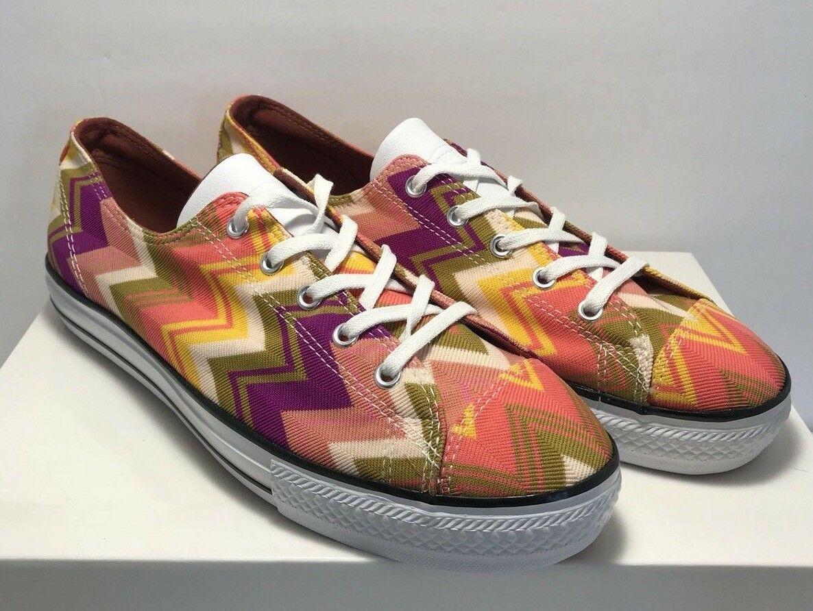 Converse Womens Size 10.5 Chuck Taylor All Star High Line OX Missoni New
