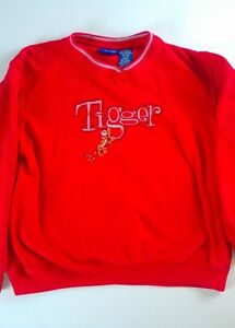 Disney-Tigger-Sweatshirt-Youth-L-XL-Pooh-Bear-Pullover-Boys-Girls-Embroidered