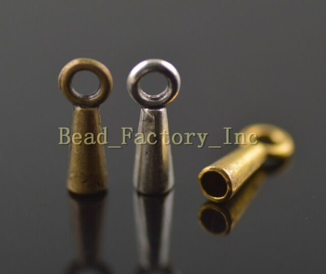Wholesale 100Ps Charms Bead End Cap Stopper Fit 2mm Cord Leather Crafts Necklace