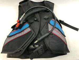 Mens-SCUBAPRO-Double-Black-BCD-Buoyancy-Ocean-Lake-Scuba-Diving-Vest-Size-XS