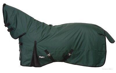 """Winter Horse Turnout Blanket-full Neck-1200d-hunter Green-size 69""""-84""""-300 Gram"""