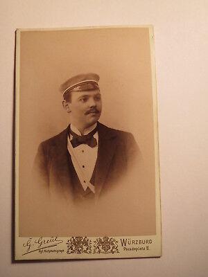Aus Dem Ausland Importiert Würzburg - Burschenschaft Cimbria - Ws 1895 - Hermann Hammann - Cdv / Studentika Weitere Rabatte üBerraschungen