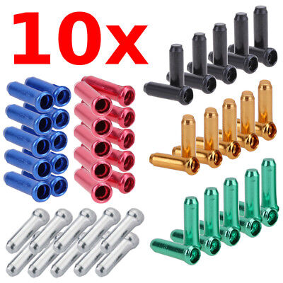 6 X  SHIMANO Alloy Cable End Caps Crimps Tips Ferrules Nipple Cover