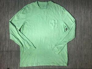 J-Crew-Adult-Mens-Medium-Long-Sleeve-Tee-T-Shirt-Green-Cotton-64737