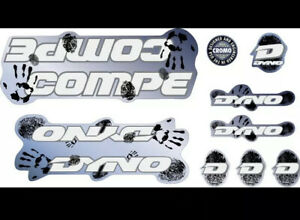 Dyno Compe 1992  Decal Set Stickers old school BMX Restoration Chrome Backed