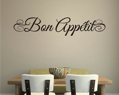 Bon Appetit Wall Tattoo for Kitchen Deco Motto Dining Cafe w503c
