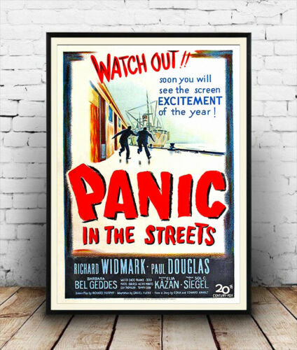 Panic in the Streets Vintage Movie advert  poster reproduction