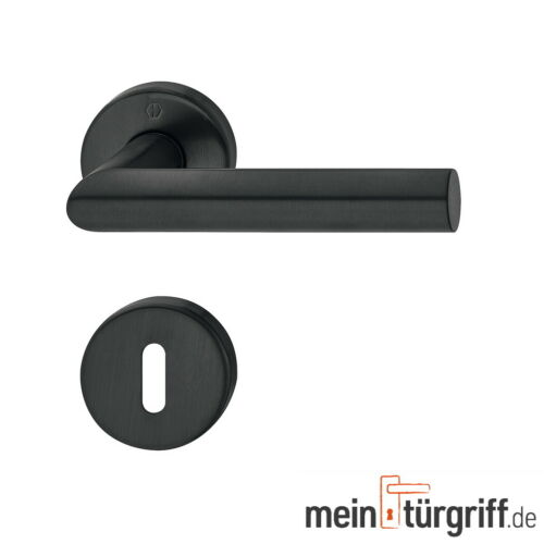 Hoppe Türdrücker Amsterdam Rosette BB schwarz satiniert Türgriff Türbeschlag