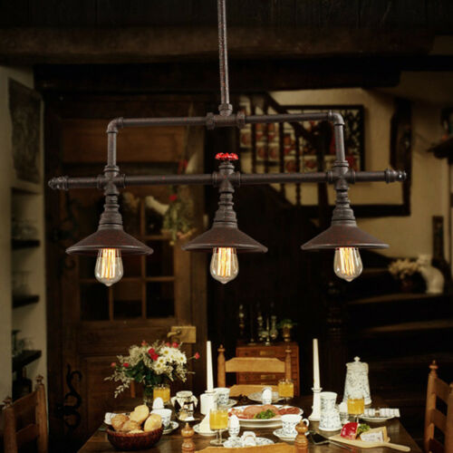 "32/"" Farmhouse Lighting Rustic Chandelier Barn Country Shade Kitchen Island Light"
