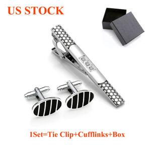 Cufflinks-Tie-Clip-Set-Vintage-Skinny-Tie-Clasp-Bar-Cuff-Links-For-Wedding-Party