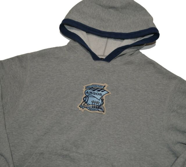 RESERVED THANKS Argonauts Argos Hooded Sweatshirt Size Large Gray Made in Canada