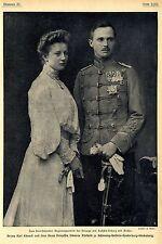 Herzog Karl Eduard & Prinzessin Viktoria Adelheid zu Schleswig-Holstein c.1905