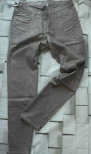 Hose-Stoffhose-Jeans-Groesse-44-bis-54-Braun-Metallic-Look-Grosse-Groessen-410-NEU