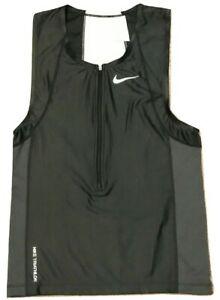 Nike-706288-Mens-Triathlon-Tri-Swim-Top-Tank-Singlet-Black-w-White-S-or-M-87
