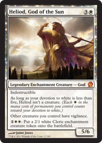 English 1 x MTG Heliod God of the Sun Theros Slightly Played