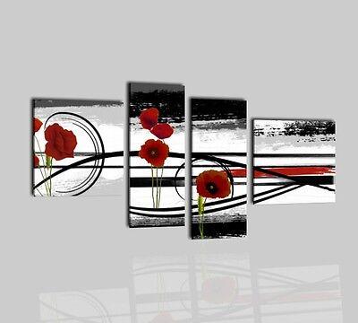 Quadri moderni astratti dipinti a mano olio su tela fiori for Quadri di fiori ad olio