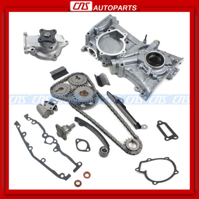 For Nissan Ga16de Timing Cover Chain Kit Water Oil Pump Sentra 200sx Nx1600