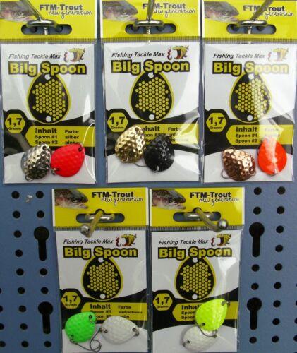 FTM Bilg Spoon Forellen-Blinker 1,7gr mit Einzelhaken 2 St unterschied Dekore
