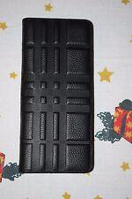 Authentic Burberry Black London Check Continental Leather 18CC Men/Women wallet