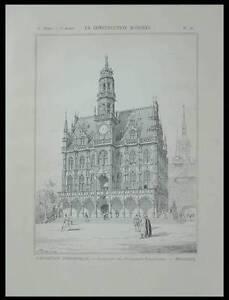 EXPOSITION UNIVERSELLE 1900, PAVILLON BELGIQUE - PLANCHE 1900 - ACKER MANKELS