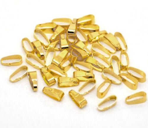 50 COLLIERSCHLAUFEN 11 x 4 mm SILBER GOLD BRONZE Anhänger Öse Verbinder Kette