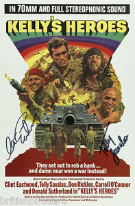 KELLYS-HEROES-Clint-Eastwood-Telly-Savalas-Quality-Signed-Autograph-MOVIE-POSTER