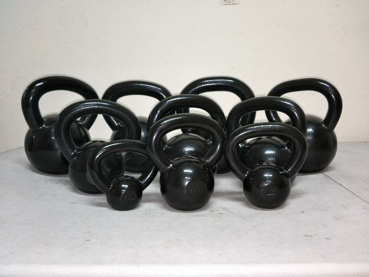 Solid Cast Iron powder coated Kettlebell Workout 5 10 15 20 25 30 35 40 45 50 lb