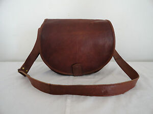 8cf3ad6f490d Image is loading Real-Brown-Leather-DSLR-Camera-Messenger-Bag-Canon-
