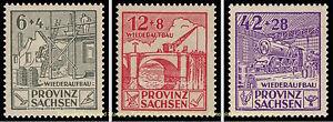 EBS-Germany-1946-Soviet-Zone-Saxony-Reconstruction-set-Perf-87A-89A-MH