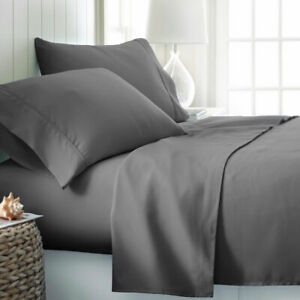 Image Is Loading Queen 4pcs Bed Sheets Set Egyptian Cotton 1800