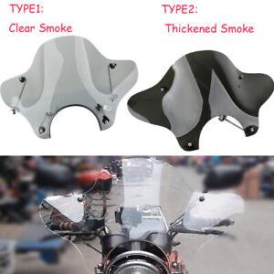 Motorrad-Windschutzscheibe-Windschutz-Lenker-Fuer-Universal-Harley