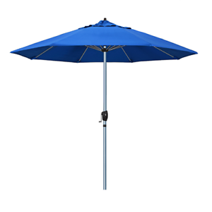 Image Is Loading New 9 Ft Gray Grey Metal Patio Umbrella