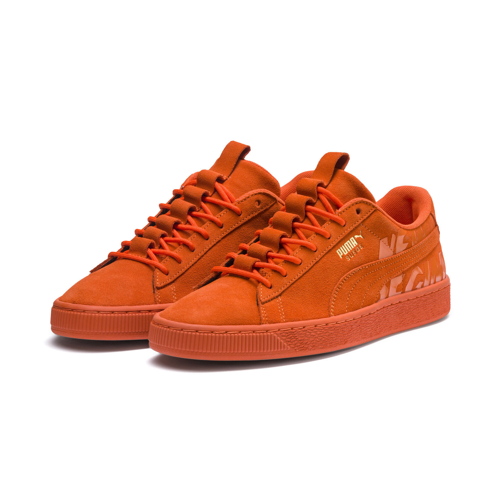 Men's Puma Suede Atelier New Regime orange shoes (366534-01)