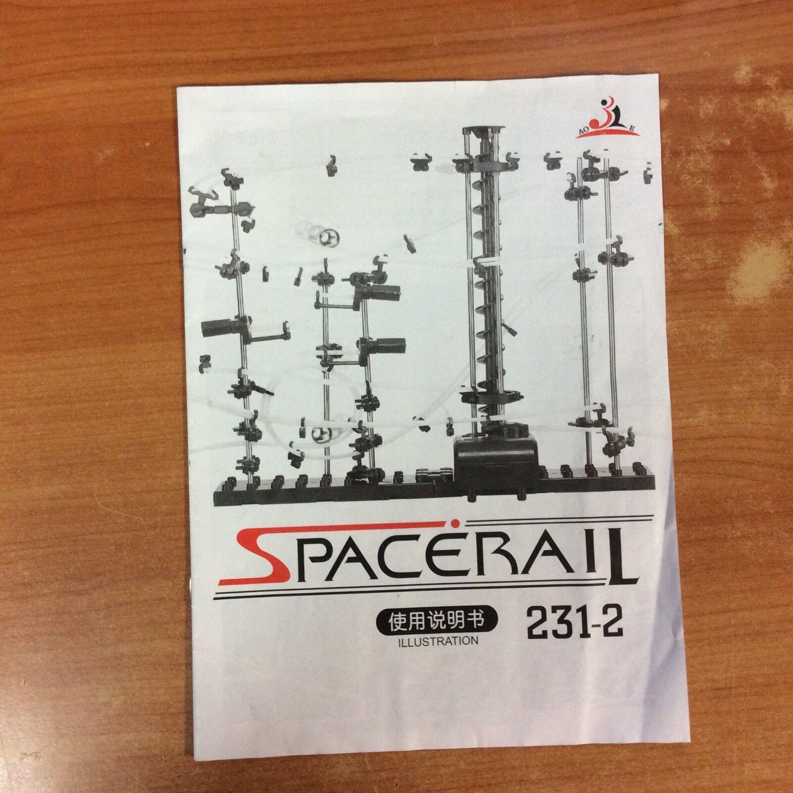 2-Level Space Rail Spiral Lift Roller Coaster Electric Assemble Assemble Assemble Model f3f699